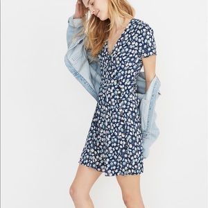 NWT Madewell Button Wrap Floral Printed Mini Dress
